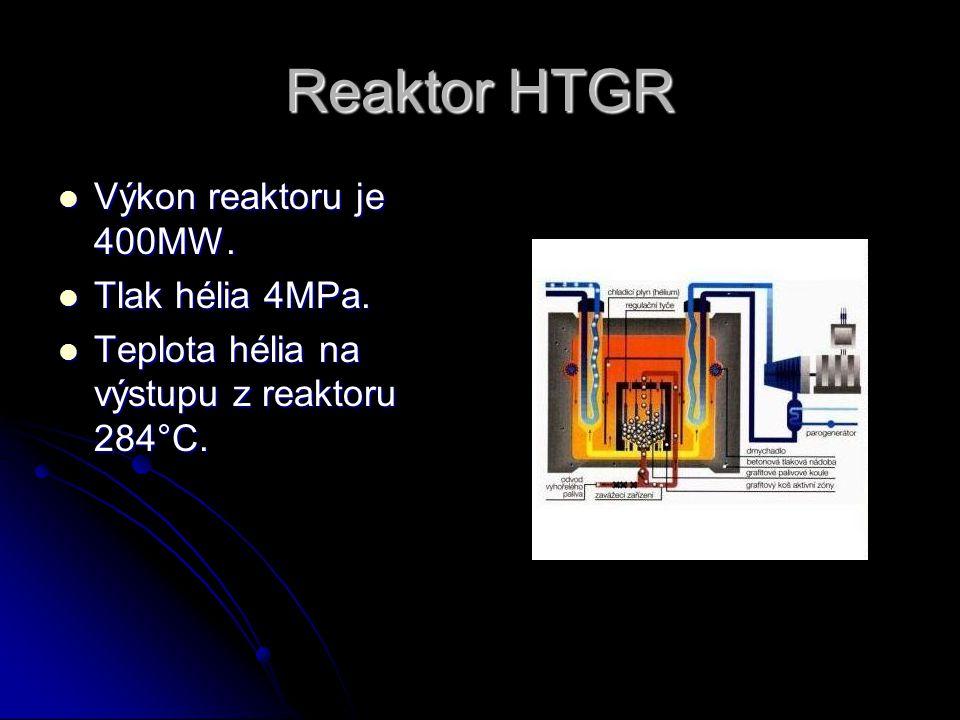 Reaktor FBR  Výkon reaktoru je 1300MW. Palivo je obohacené o 20% plutoniem.