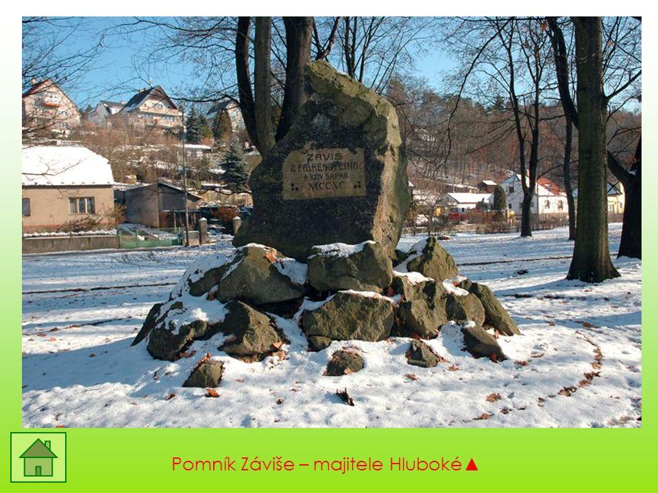 Pomník Záviše – majitele Hluboké▲