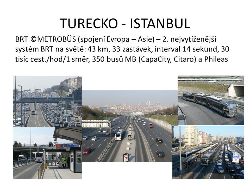 TURECKO - ISTANBUL BRT ©METROBÜS (spojení Evropa – Asie) – 2.