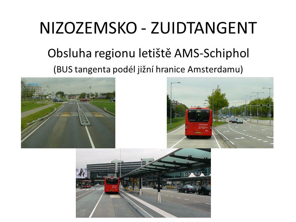 NIZOZEMSKO - ZUIDTANGENT Obsluha regionu letiště AMS-Schiphol (BUS tangenta podél jižní hranice Amsterdamu)