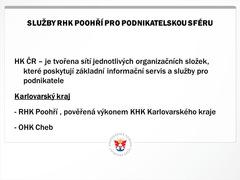 2 HK ČR, 1.7.2014 HK ČR – je tvořena sítí jednotlivých organizačních složek, které poskytují základní informační servis a služby pro podnikatele Karlo