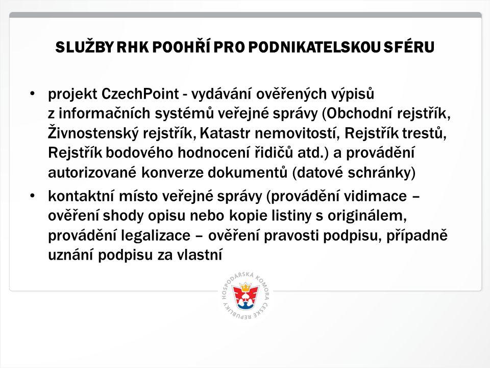 5 HK ČR, 1.7.2014 • projekt CzechPoint - vydávání ověřených výpisů z informačních systémů veřejné správy (Obchodní rejstřík, Živnostenský rejstřík, Ka