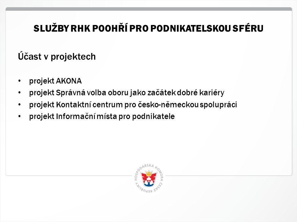 8 HK ČR, 1.7.2014 Účast v projektech • projekt AKONA • projekt Správná volba oboru jako začátek dobré kariéry • projekt Kontaktní centrum pro česko-ně