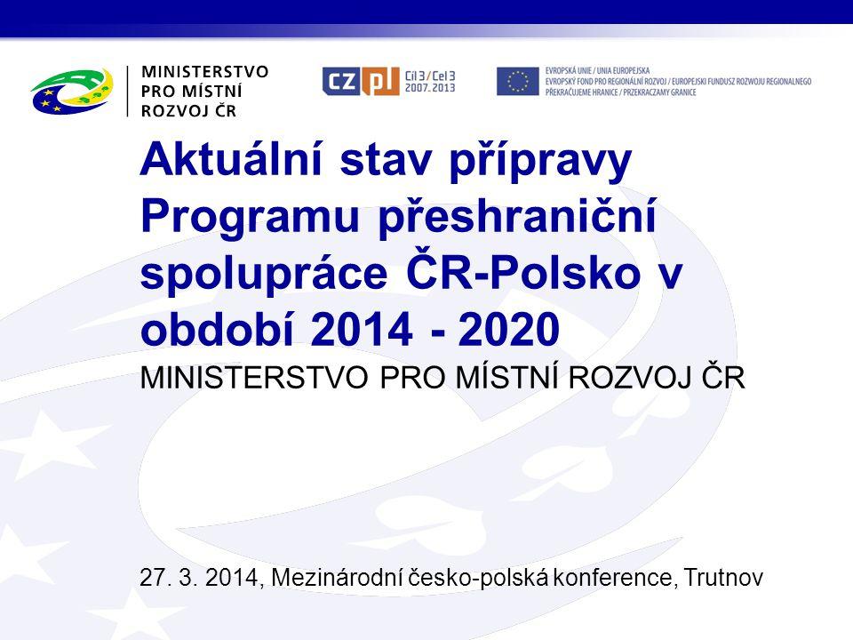 MINISTERSTVO PRO MÍSTNÍ ROZVOJ ČR 27.3.