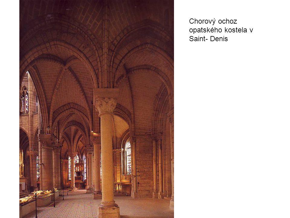 Chorový ochoz opatského kostela v Saint- Denis