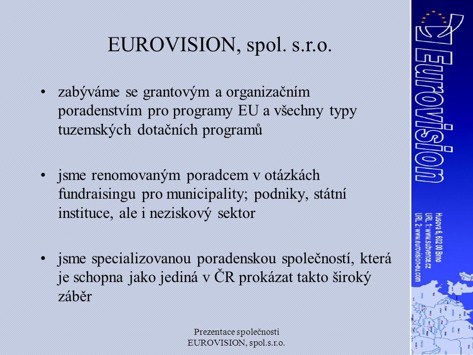 Prezentace společnosti EUROVISION, spol.s.r.o. Organizační rozdělení
