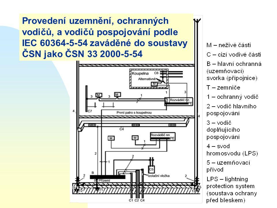 Provedení uzemnění, ochranných vodičů, a vodičů pospojování podle IEC 60364-5-54 zaváděné do soustavy ČSN jako ČSN 33 2000-5-54