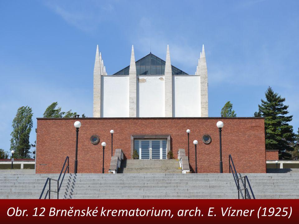 Obr. 12 Brněnské krematorium, arch. E. Vízner (1925)