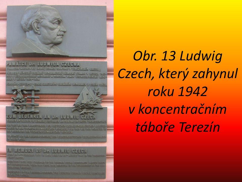 Obr. 13 Ludwig Czech, který zahynul roku 1942 v koncentračním táboře Terezín