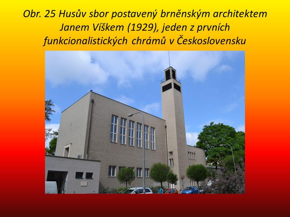 Obr. 25 Husův sbor postavený brněnským architektem Janem Víškem (1929), jeden z prvních funkcionalistických chrámů v Československu