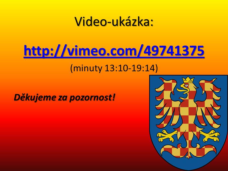 Video-ukázka: http://vimeo.com/49741375 (minuty 13:10-19:14) Děkujeme za pozornost!
