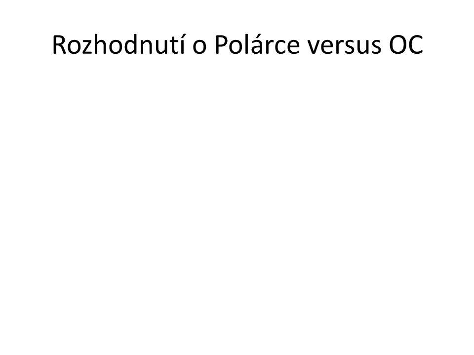 Rozhodnutí o Polárce versus OC
