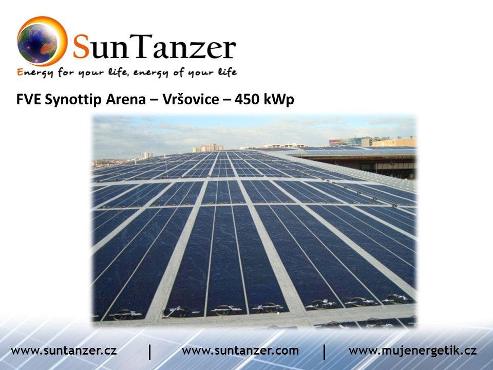 FVE Synottip Arena – Vršovice – 450 kWp www.suntanzer.czwww.suntanzer.comwww.mujenergetik.cz