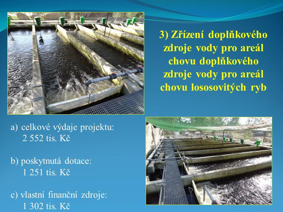 a)celkové výdaje projektu: 2 552 tis.Kč b) poskytnutá dotace: 1 251 tis.