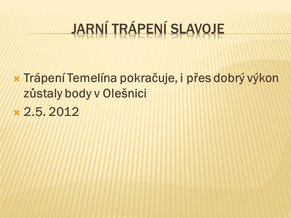  Trápení Temelína pokračuje, i přes dobrý výkon zůstaly body v Olešnici  2.5. 2012