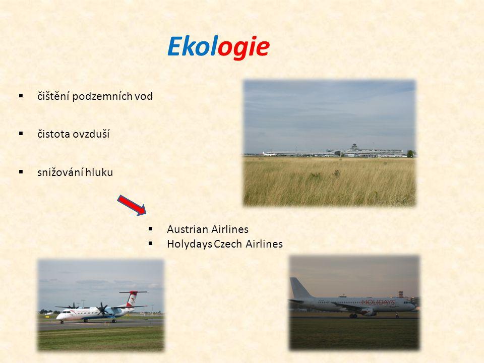 Ekologie  Austrian Airlines  Holydays Czech Airlines  čištění podzemních vod  čistota ovzduší  snižování hluku