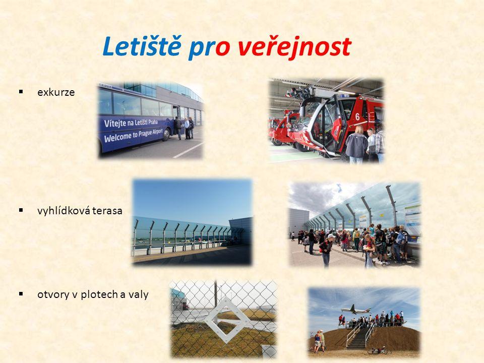 Letiště pro veřejnost  exkurze  vyhlídková terasa  otvory v plotech a valy
