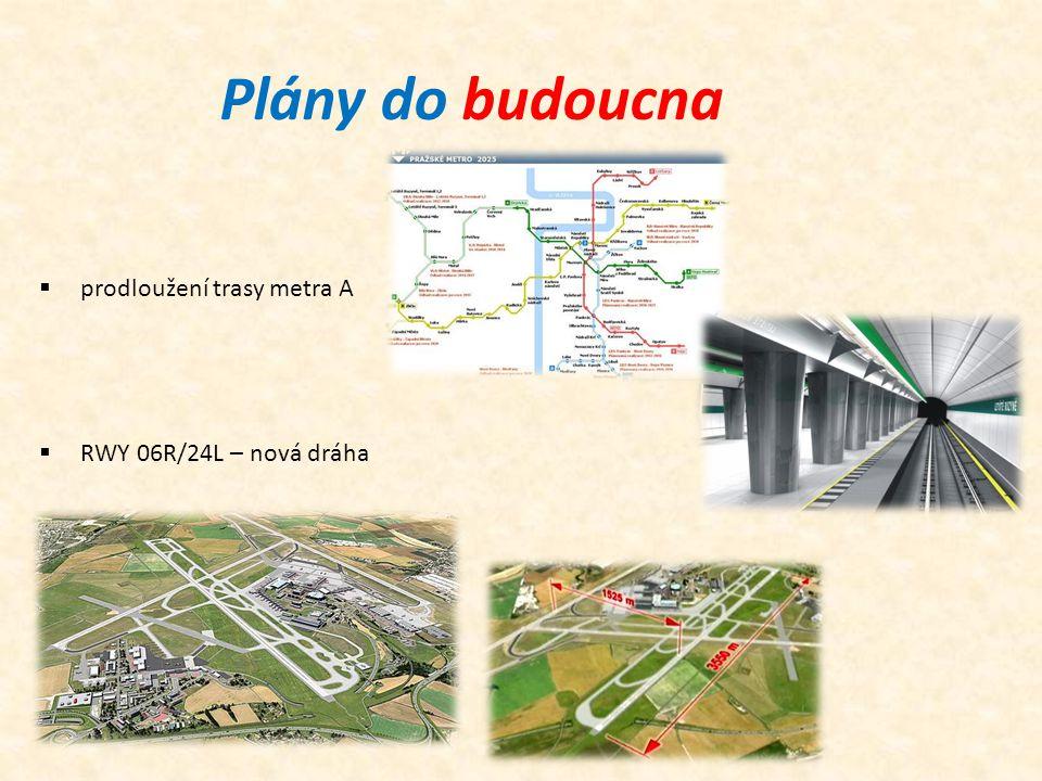 Plány do budoucna  RWY 06R/24L – nová dráha  prodloužení trasy metra A