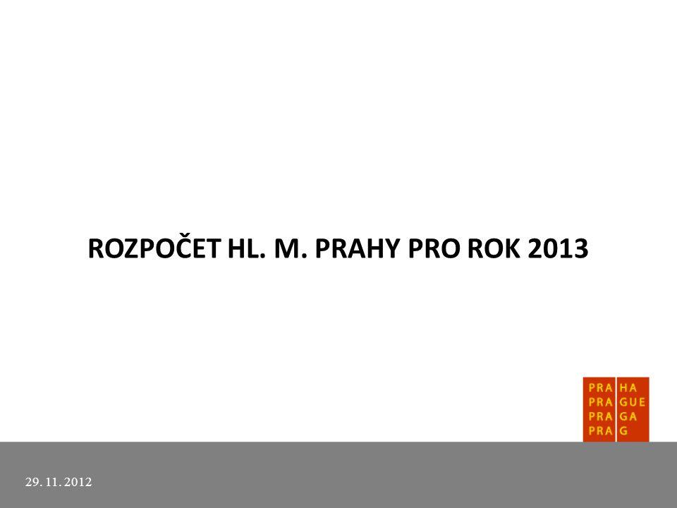 ROZPOČET HL. M. PRAHY PRO ROK 2013 29. 11. 2012