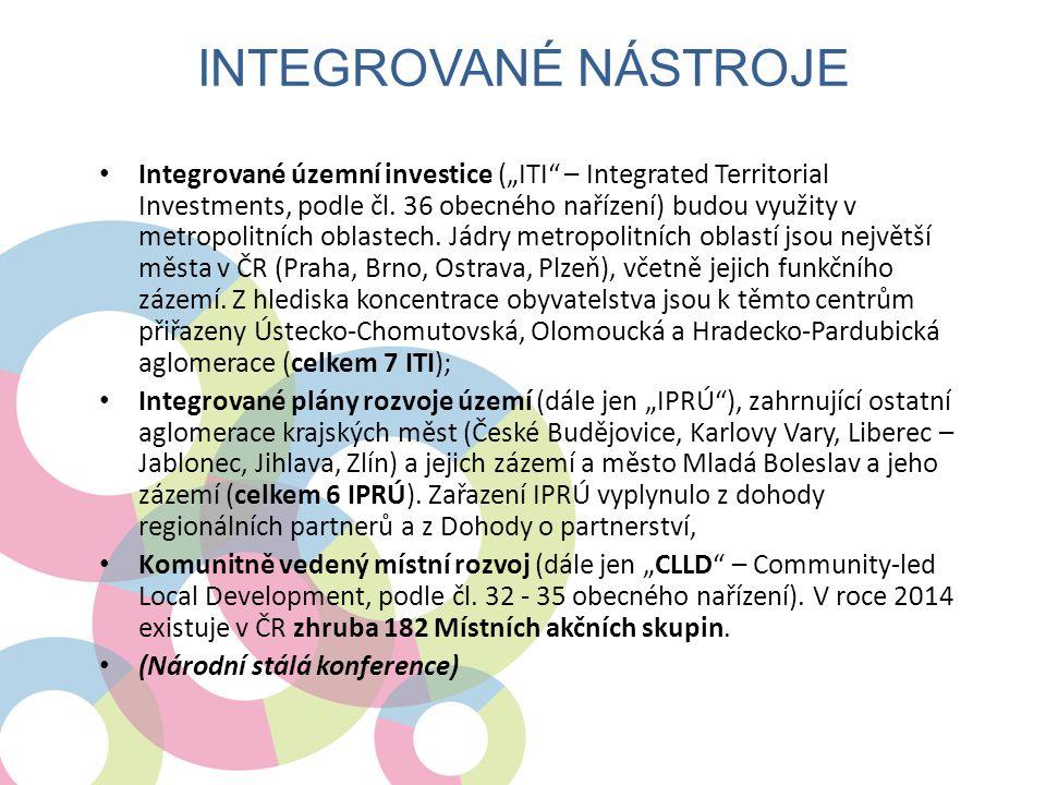 """• Integrované územní investice (""""ITI – Integrated Territorial Investments, podle čl."""
