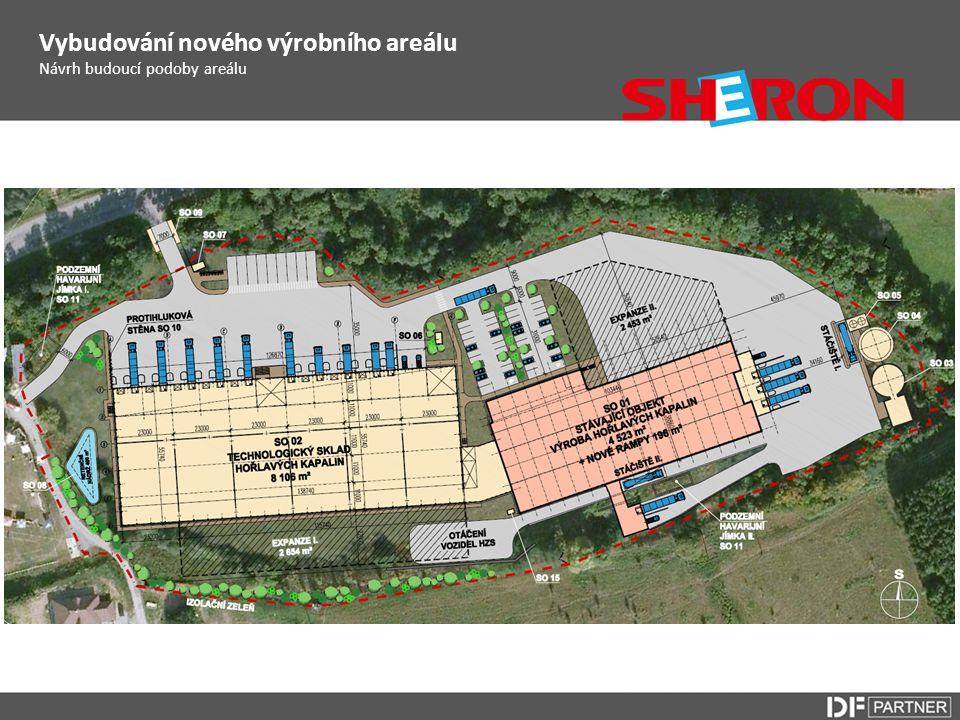 Návrh budoucí podoby areálu Vybudování nového výrobního areálu