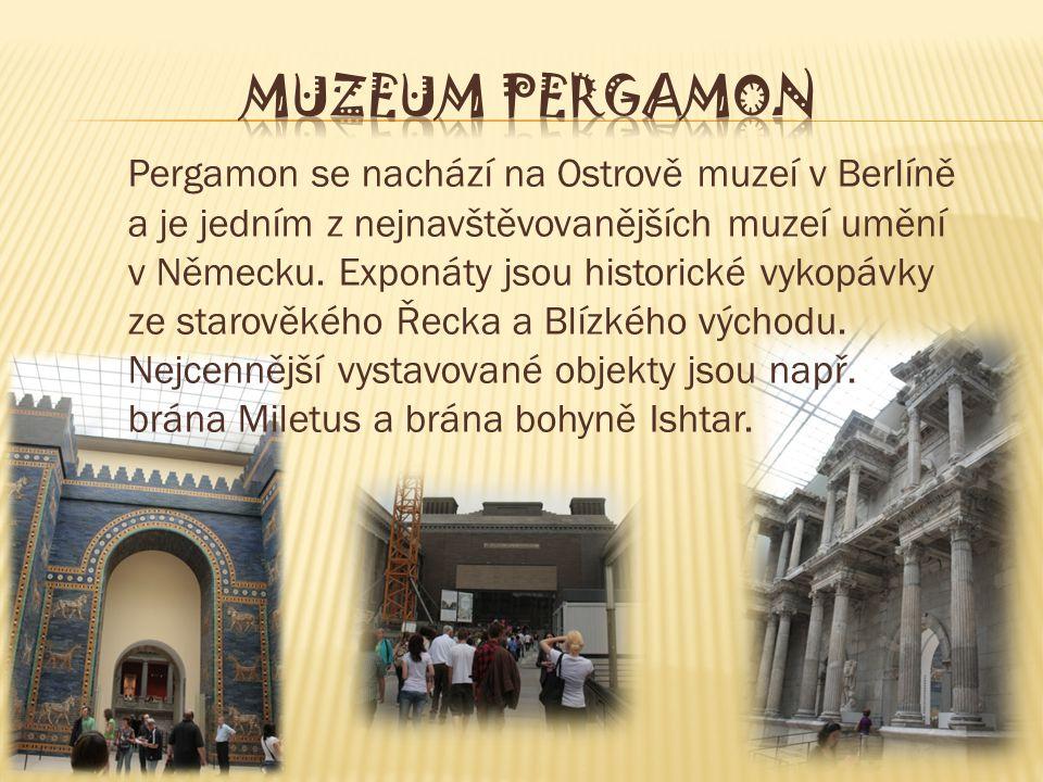 Pergamon se nachází na Ostrově muzeí v Berlíně a je jedním z nejnavštěvovanějších muzeí umění v Německu.