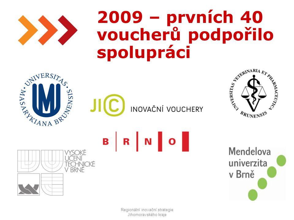 16 2009 – prvních 40 voucherů podpořilo spolupráci Regionální inovační strategie Jihomoravského kraje