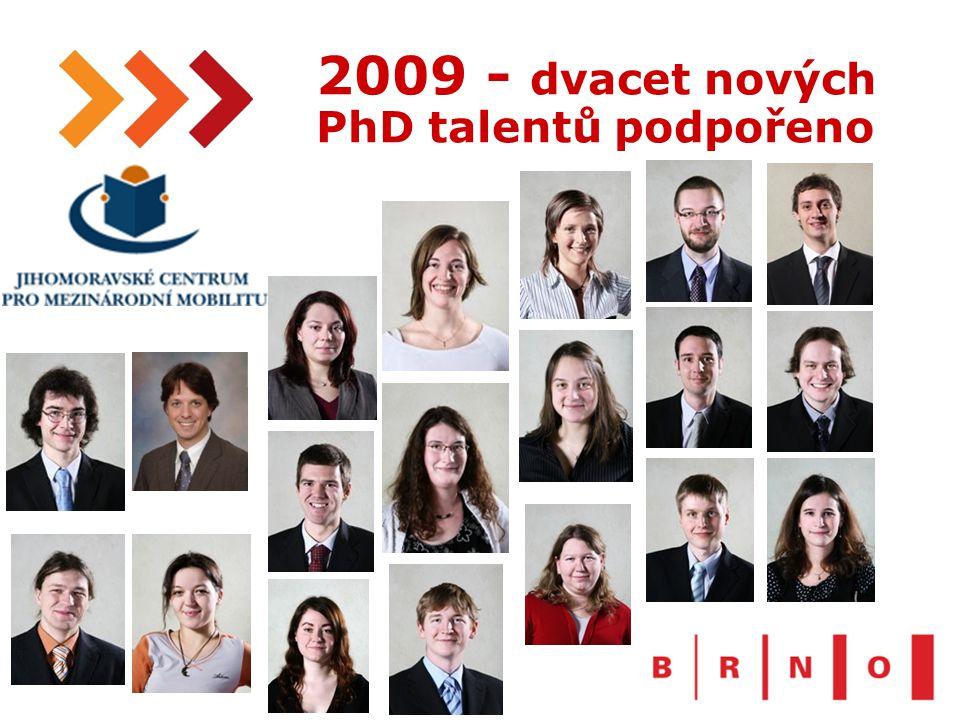 17 2009 - dvacet nových PhD talentů podpořeno