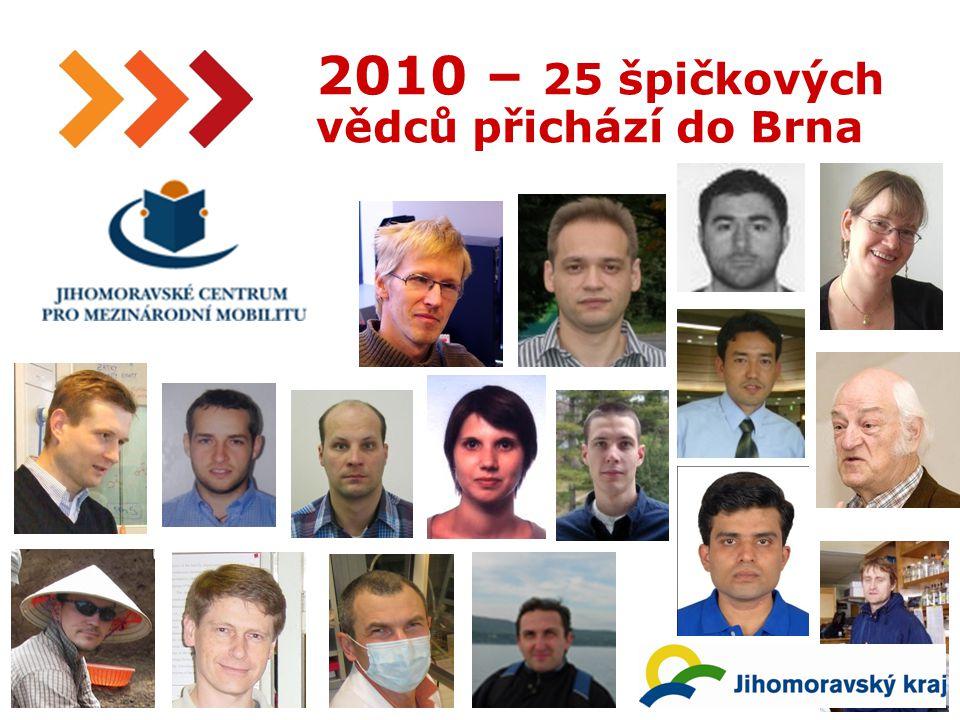 19 2010 – 25 špičkových vědců přichází do Brna
