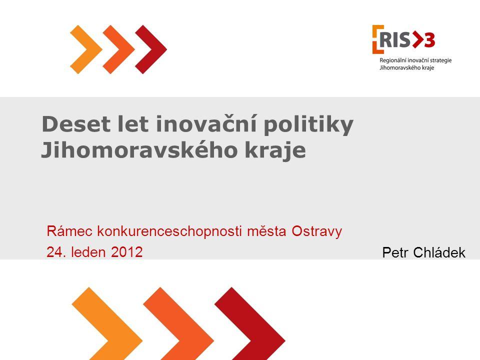 Deset let inovační politiky Jihomoravského kraje Rámec konkurenceschopnosti města Ostravy 24.