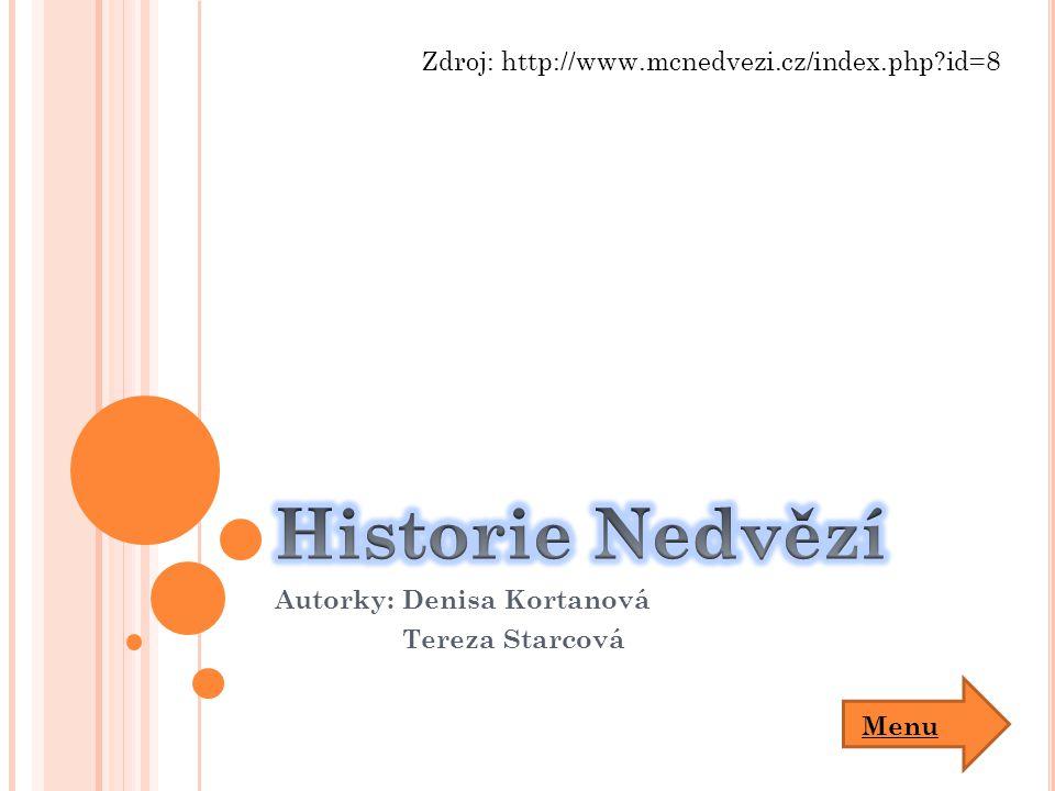 Autorky: Denisa Kortanová Tereza Starcová Zdroj: http://www.mcnedvezi.cz/index.php?id=8 Menu