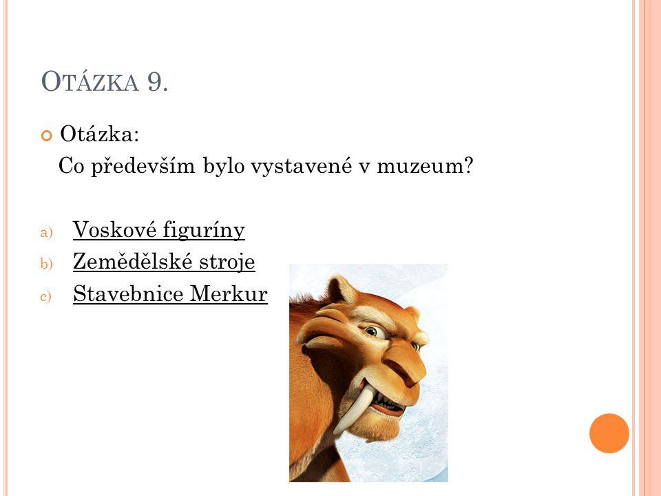 Otázka: Co především bylo vystavené v muzeum.