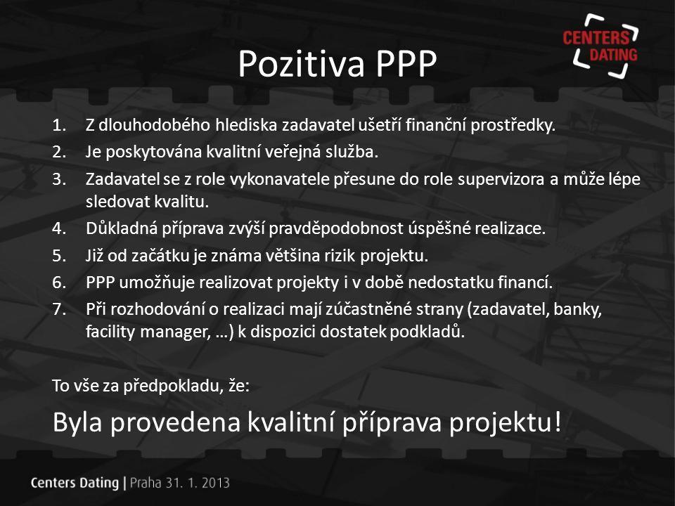 Závěr PPP není samospasitelné řešení pro veřejné investice.