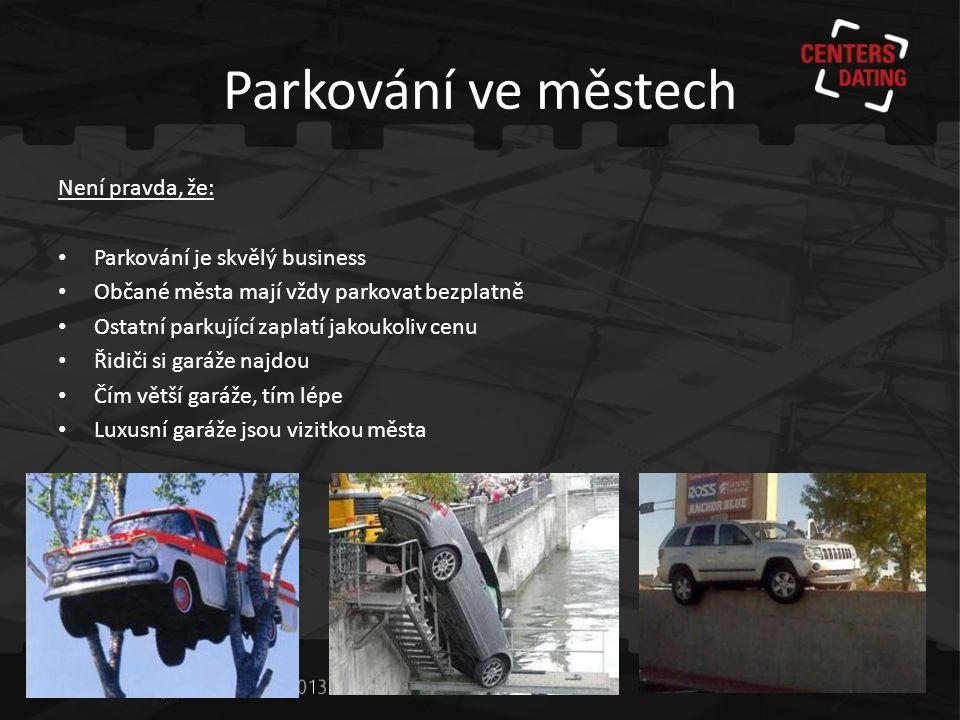 Mylné představy o parkování • Výstavba garáží generuje zisky.