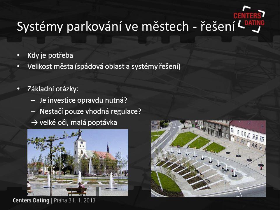 Systémy parkování ve městech - řešení Malé město (do 20 tis.