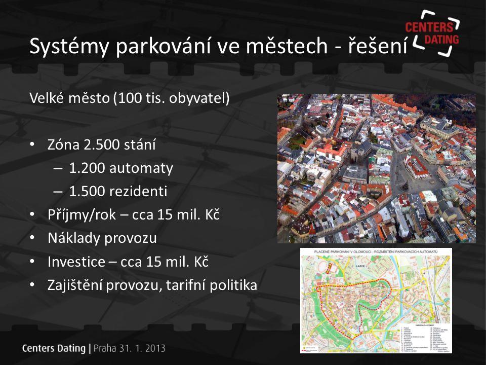 Systémy parkování ve městech - řešení Proč odborný provozovatel.
