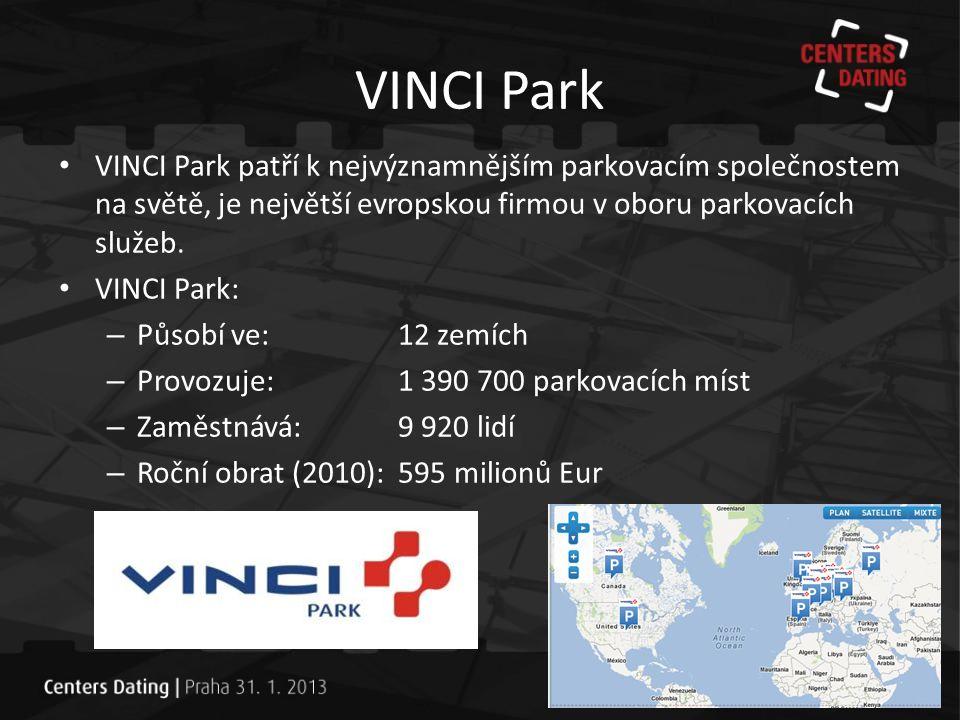 VINCI Park – Specialista v oboru • Již více než 40 let VINCI Park: – navrhuje, financuje, staví a provozuje projekty parkování pro obce a soukromý sektor.