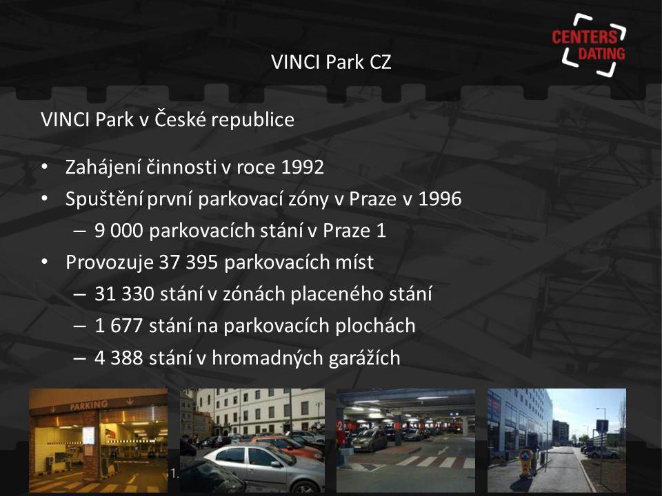 VINCI Park CZ Co nabízíme: • Analýzy • Studie • Návrhy systémů • Provozování • Dlouhodobá spolupráce ~