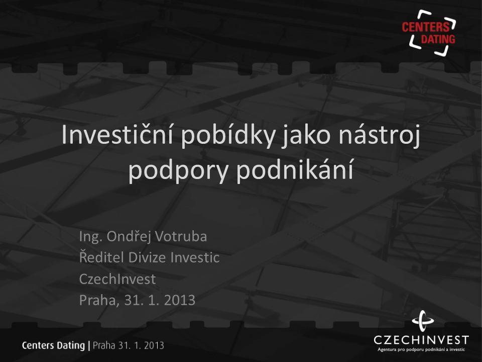 Investiční pobídky dle zákona -- Zákon o investičních pobídkách č.