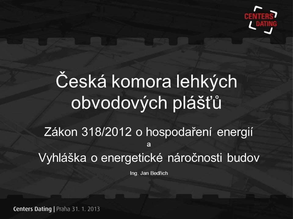 Česká komora lehkých obvodových plášťů •Snižování energetické náročnosti budov •Snižování energetické náročnosti vstupních materiálů •Nákladové optimum při řešení tepelných úspor – základní podmínka směrnice •ANO
