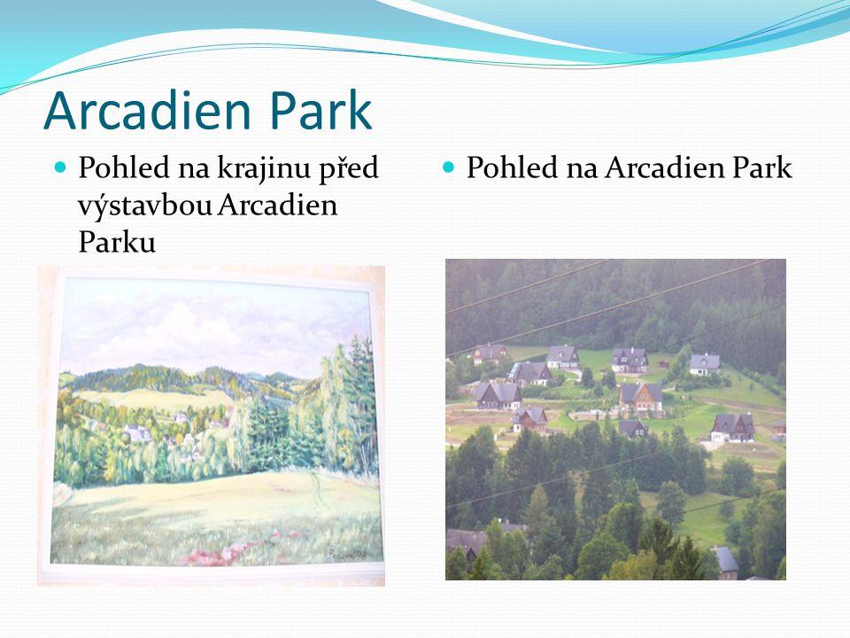 Arcadien Park  Pohled na krajinu před výstavbou Arcadien Parku  Pohled na Arcadien Park
