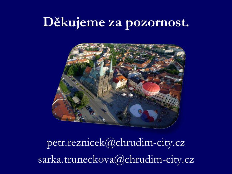 Děkujeme za pozornost. petr.reznicek@chrudim-city.cz sarka.truneckova@chrudim-city.cz