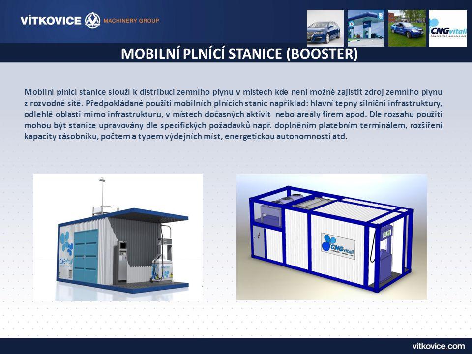 Mobilní plnicí stanice slouží k distribuci zemního plynu v místech kde není možné zajistit zdroj zemního plynu z rozvodné sítě. Předpokládané použití