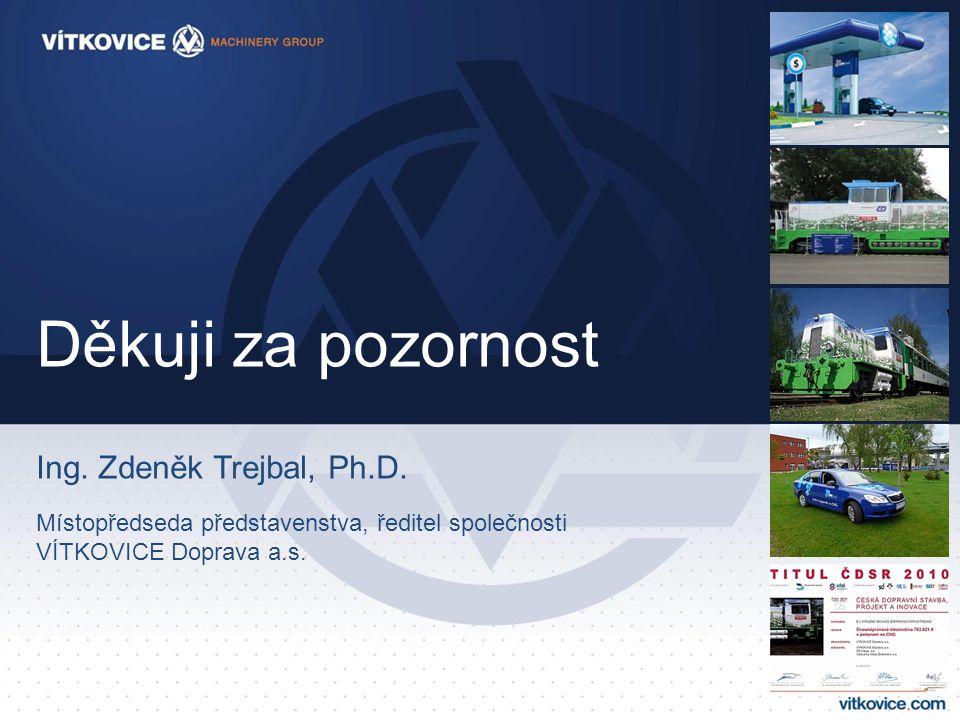 Děkuji za pozornost Ing. Zdeněk Trejbal, Ph.D. Místopředseda představenstva, ředitel společnosti VÍTKOVICE Doprava a.s.