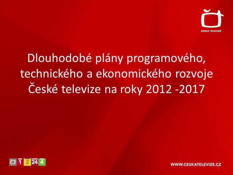 Dlouhodobé plány programového, technického a ekonomického rozvoje České televize na roky 2012 -2017 1