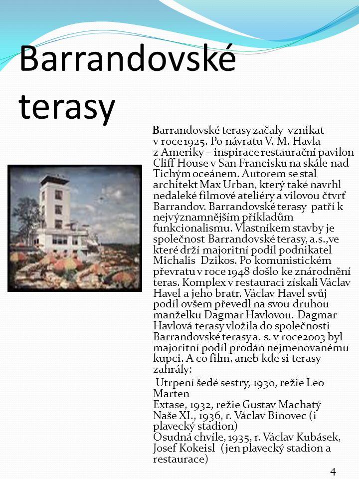 Starý Barrandov Historie starého Barrandova se začala psát až v20.