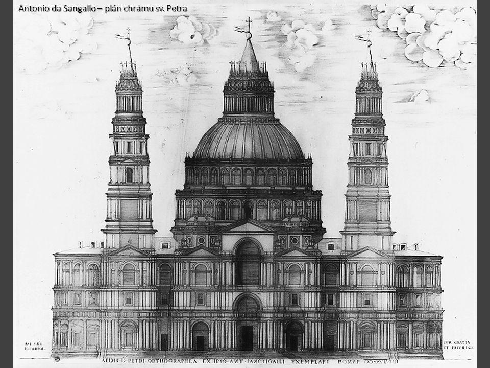 Antonio da Sangallo – plán chrámu sv. Petra