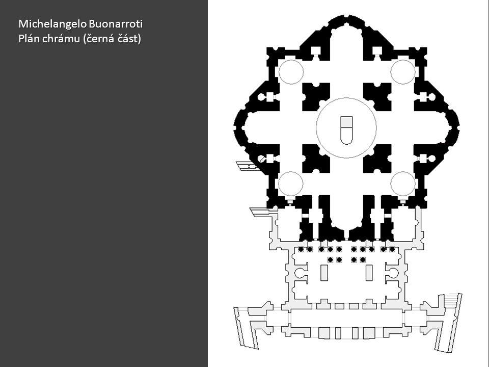 Michelangelo Buonarroti Plán chrámu (černá část)