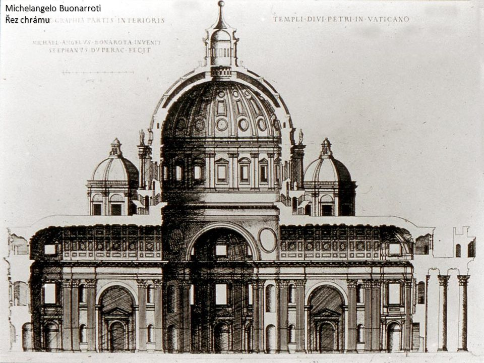 Michelangelo Buonarroti Řez chrámu