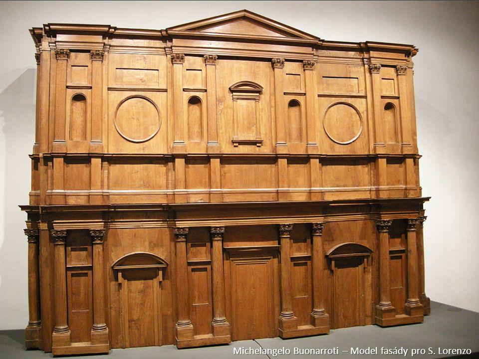 Michelangelo Buonarroti – Model fasády pro S. Lorenzo